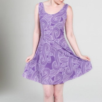 TALI PATTERN SKATER DRESS