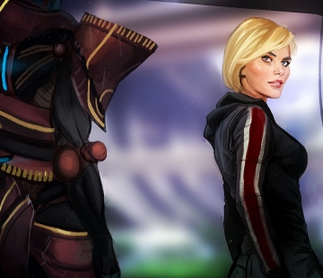 Shepard Javik by crystalgraziano.tumblr.com