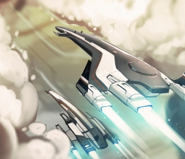 Tempest and Normandy SR2 - Mass Effect by LoginovLS.deviantart.com