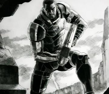 MALE SHEPARD Mass Effect by grandizer05.deviantart.com