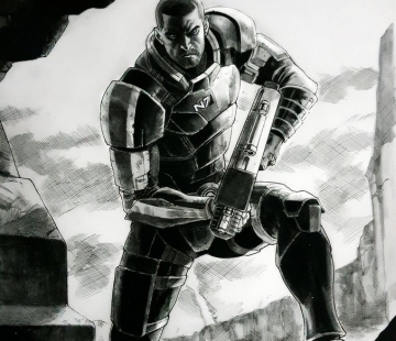 MALE SHEPARD Mass Effect by grandizer05.deviantart.com