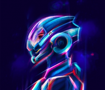 Neon Sara by Shaya-Fury.deviantart.com