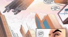 Kaidan, de retour sur Terre, admire un vaisseau