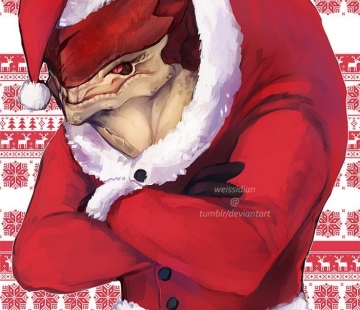ME Christmas Sweaters Wrex by Weissidian.deviantart.com