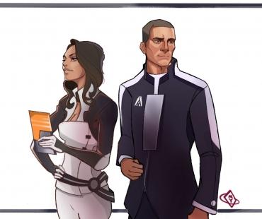 Miranda et Shepard par dokobo.deviantart.com