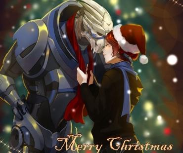 Mass Effect Christmas par kotorikurama.deviantart.com