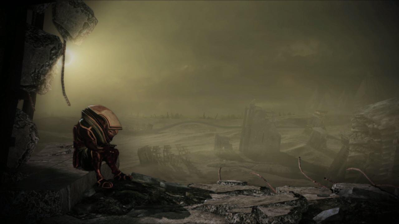 Destruction, Génophage conservé, Eve vivante et Wrex décédé sur la Citadelle.