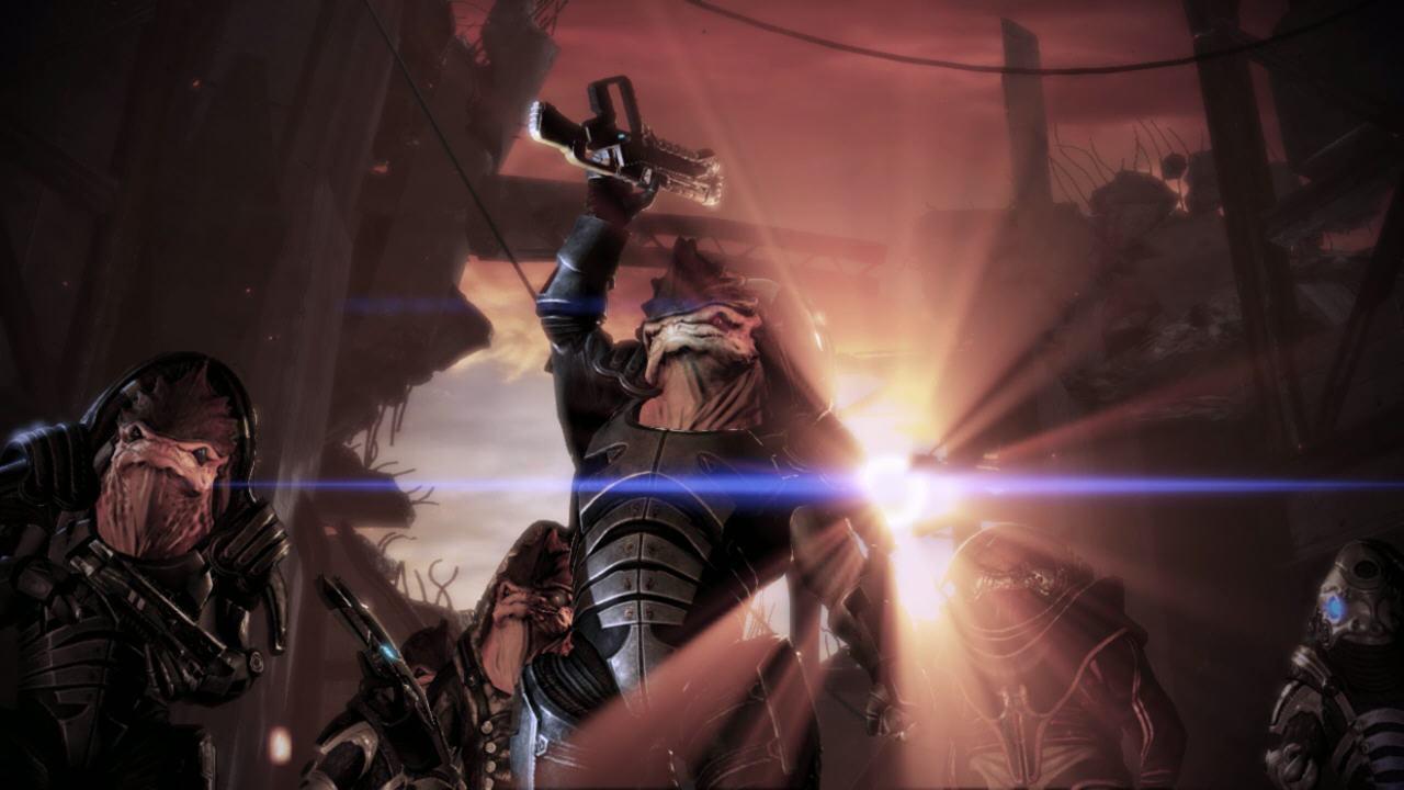 Destruction, fin du génophage, Wreav est vivant mais Eve est morte.