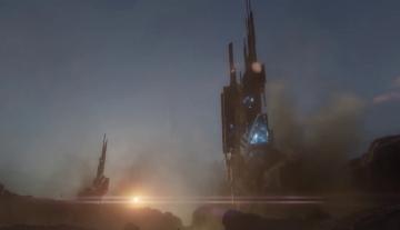 Rapidement, une structure d'origine inconnue sort de terre et le combat se lance.