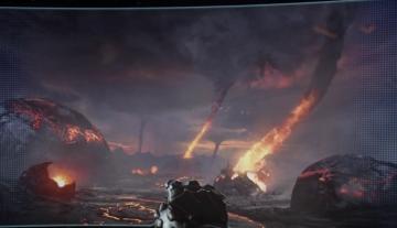 Cinquième destination, une planète volcanique