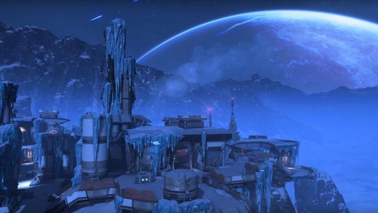 Brise-glace : une station de ravitaillement sur une planète gelée
