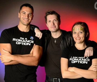 Rana, Luciano et Philippe Lauby (organisateur)