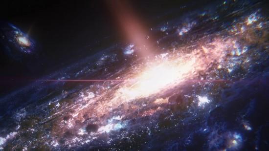 Premier plan : Voie Lactée // Arrière plan : Andromède