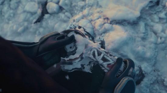 Les restes de l'armure du Commandant Shepard