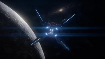 """L'Hyperion en direction d'Andromède (""""vers l'infini et au delà !"""")"""