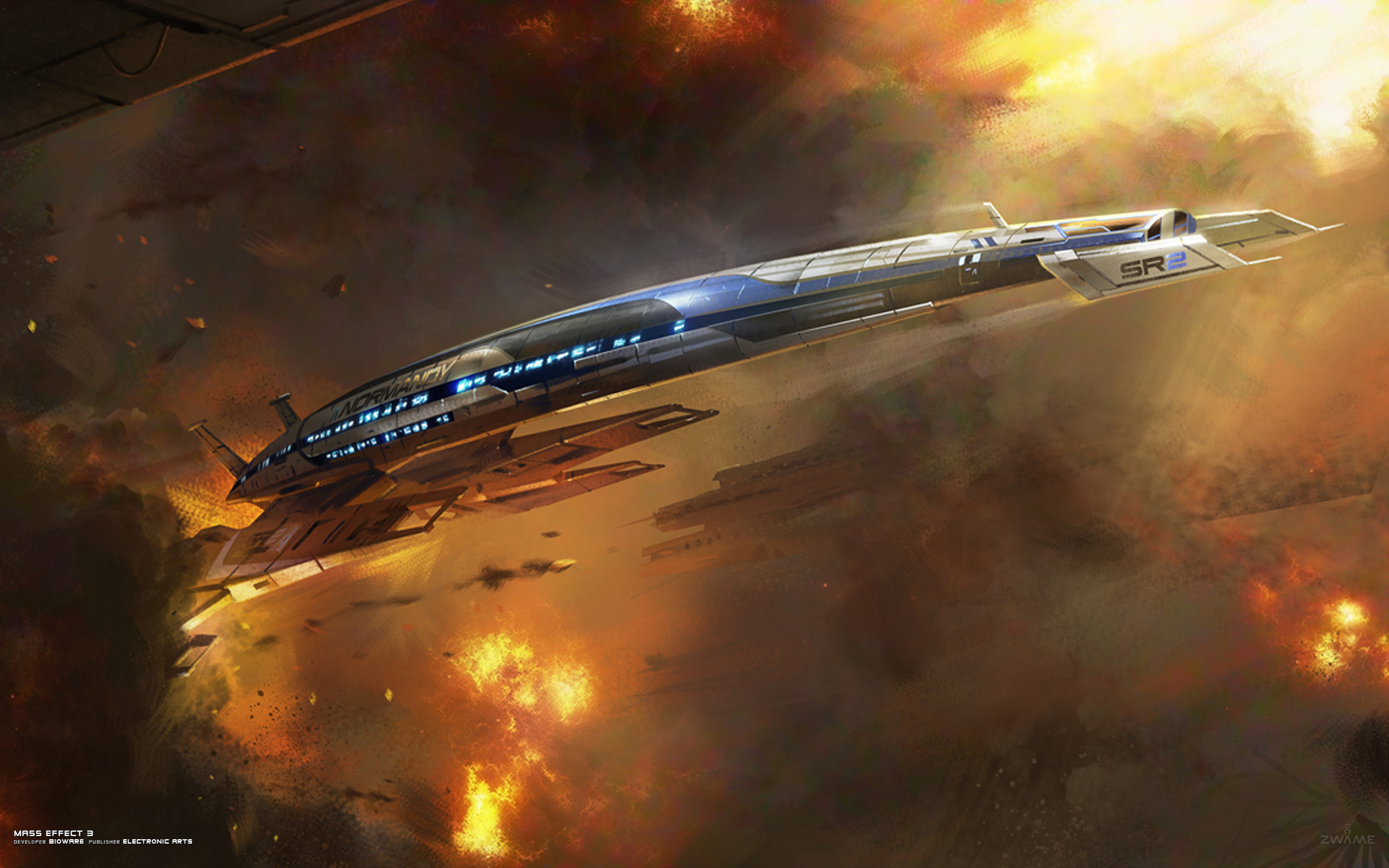Mass effect 3, normandy, sr2, alliance, 2560x1600