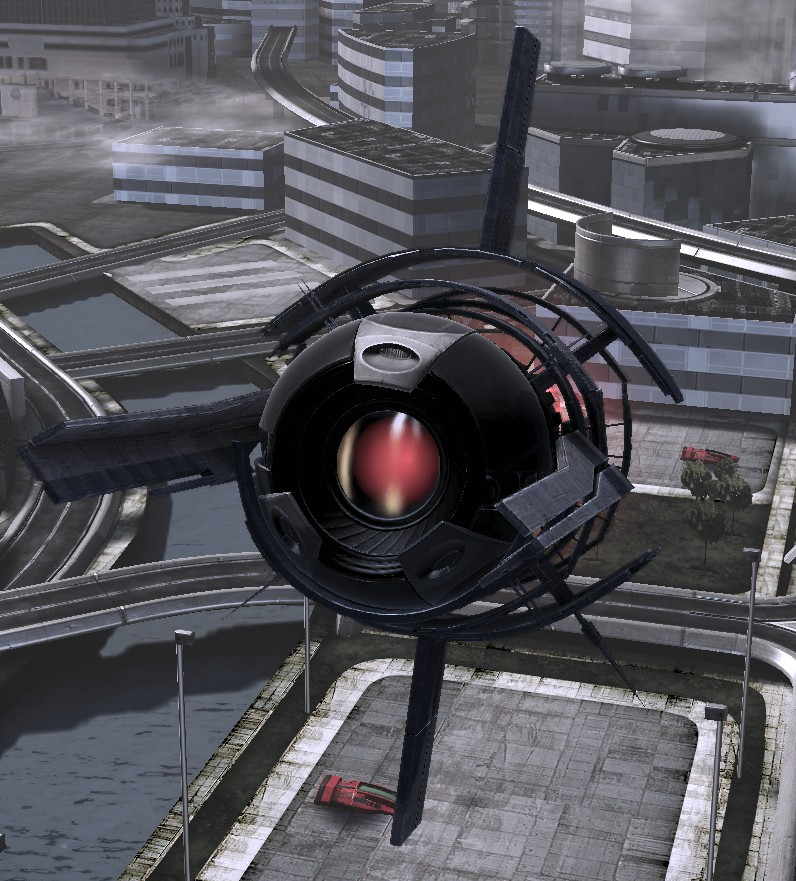 Un oculus – drône/chasseur moissonneur