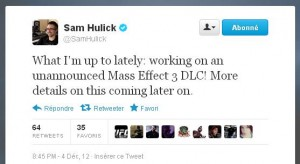 Sam Hulick sera de la partie