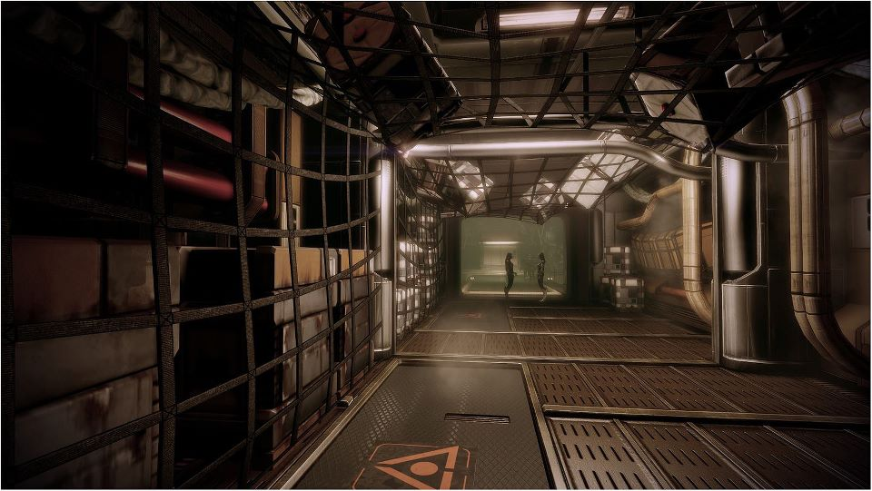 interieur vaisseau sci fi vaisseau spatial corridor int