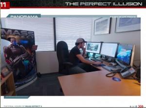 Un développeur qui travaille sur Mass Effect 3