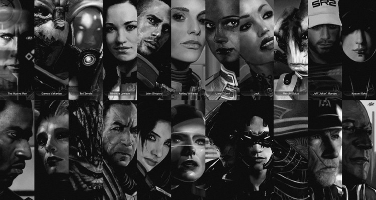 Face models Mass Effect