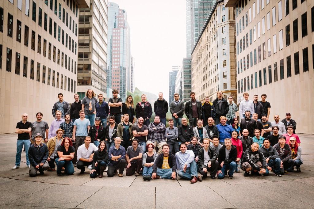 Une partie de l'équipe de Bioware Montréal