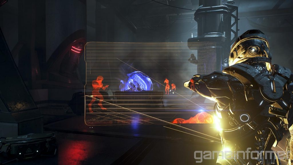 Le scans occuperont une grande partie du jeu : ils permettent de remplir le codex et de découvrir de nouveaux systèmes d'armement par exemple.