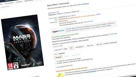 Mass Effect Andromeda sur Amazon