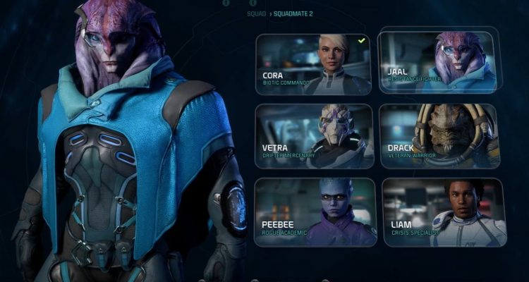 gameplay  2 de mass effect andromeda   profils  favoris et co u00e9quipiers